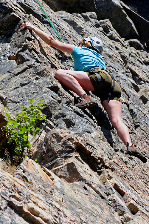 North America, USA, Alaska, Skagway. Klondike Rock Climbing and Rapelling, an award winning shore excursion popular with adventurous visitors in Skagway, Alaska.