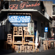 This Karekladiko (chair shop)in the back streets in central Athens has been in operating in the area of Psiri since 1954. Image © Angelos Giotopoulos/Falcon Photo Agency