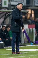 ROTTERDAM - Sparta Rotterdam - Vitesse , Voetbal , Halve Finale KNVB Beker , Seizoen 2016/2017 , Sparta stadion het Kasteel , 01-03-2017 ,  Vitesse trainer coach Henk Fraser