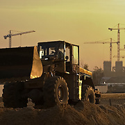 Construction of new housing estate in Warsaw Poland