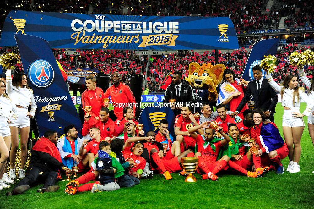 Victoire du PSG   - 11.04.2015 -  Bastia / PSG - Finale de la Coupe de la Ligue 2015<br /> Photo : Dave Winter / Icon Sport