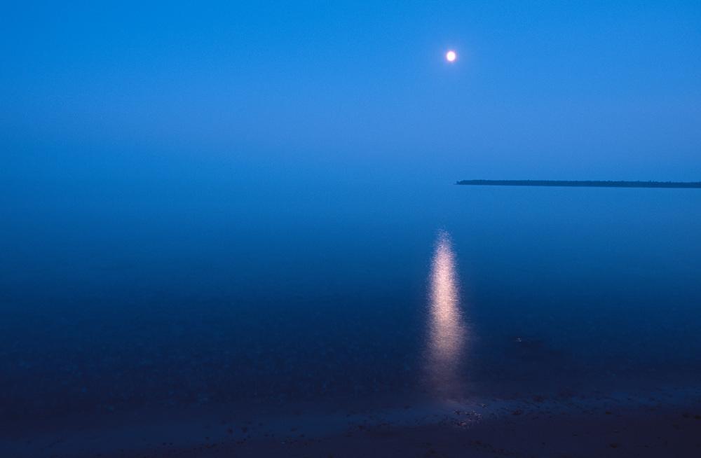Moonrise on Lake Superior, Madeline Island