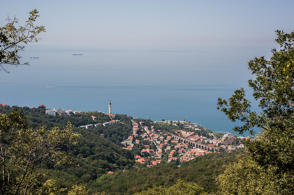 A view of Barcola in Trieste, Italy