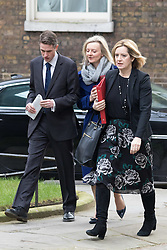Downing Street, London, March 8th 2016. Environment Food and Rural Affairs Secretary Elizabeth Truss and Energy Secretary Amber Rudd arrive for the weekly UK cabinet meeting at Downing Street. &copy;Paul Davey<br /> FOR LICENCING CONTACT: Paul Davey +44 (0) 7966 016 296 paul@pauldaveycreative.co.uk