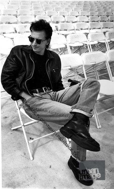 Portrait of Alan Wilder of Depeche Mode, photographed at Pasadena