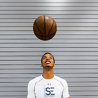 BRADENTON, FL -- June 4, 2016 -- Skal Labissière, a former Haitian basketball and soccer players who played for the University of Kentucky poses for a portrait as he prepares for the NBA draft at IMG Academy in Bradenton, Florida. (PHOTO / CHIP LITHERLAND)