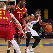 Canton Charge Guard SIR'DOMINIC POINTER (15) defends Delaware 87ers Guard JUWAN STATEN (7) in the first half of a NBA D-league regular season basketball game between the Delaware 87ers and the Canton Charge Tuesday, JAN, 26, 2016 at The Bob Carpenter Sports Convocation Center in Newark, DEL.