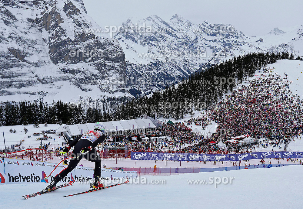 18.01.2014, Lauberhorn, Wengen, SUI, FIS Weltcup Ski Alpin, Wengen, Abfahrt, Herren, im Bild Peter Fill (ITA) // in action during the downhill of the Wengen FIS Ski Alpine World Cup at the Lauberhorn in Wengen, Switzerland on 2014/01/18. EXPA Pictures &copy; 2014, PhotoCredit: EXPA/ Freshfocus/ Christian Pfander<br /> <br /> *****ATTENTION - for AUT, SLO, CRO, SRB, BIH, MAZ only*****