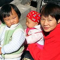 Asia, China, Beijing. Children of the hutongs in Beijing.