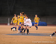 Oxford High's Susannah Rychlak (9) vs. Ridgeland in girls soccer North Half championship play-off action on Tuesday, February 2, 2010 in Oxford, Miss.