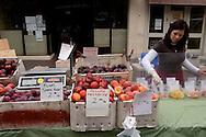 Female Fruit Stall Vendor, Old Monterey Farmers Market, California