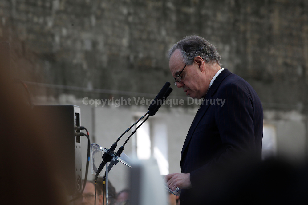 French Minister of Culture, Frederic Mitterrand for the opening of Arago.fr for photography at the grand Palais (2012)