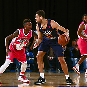 Delaware 87ers Guard RUSS SMITH (0) attempts to defend Salt Lake City Stars Forward JJ O'Brien (22) in the first half of an NBA D-league regular season game between the Delaware 87ers and the Salt Lake City Stars (Utah Jazz) Friday, March 17, 2017 at The Bob Carpenter Sports Convocation Center in Newark, DEL