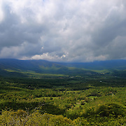 &quot;Thunder Ridge&quot;<br /> <br /> A scenic and stormy spring view of the Blue Ridge Mountains!!<br /> <br /> The Blue Ridge Mountains by Rachel Cohen