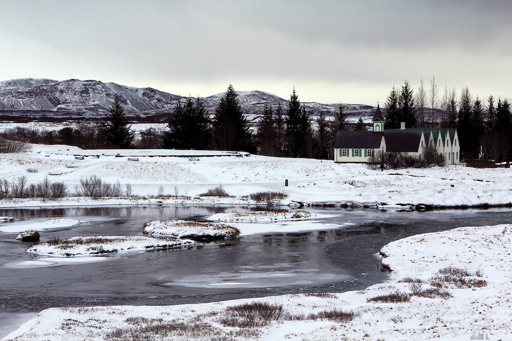 Þingvellir in south-west Iceland is an important historical and geological site where the ancient parliament met, and it marks the point at which the North American and Eurasian plates meet.