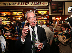 MAY 26 2014 Nigel Farage celebrates Euro elections