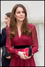 JAN 11 2013 Duchess of Cambridge Leaving National Portrait Gallery