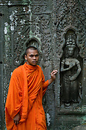 A monk in Ankor Wat Temple, Siem Reap, Cambodia. PHOTO TIAGO MIRANDA