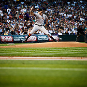 SHOT 9/25/10 6:40:14 PM - The San Francisco Giants Barry Zito pitches against the Colorado Rockies during their NL West game at Coors Field in Denver, Co. The Rockies won the game 10-9 in 10 innings. (Photo by Marc Piscotty / © 2010)