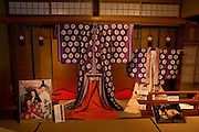 """Heian era (794-1185) costumes used in a Japanese film based on """"The Tale of Genji"""" are now on display at the Ishiyamadera Temple as part of the year-long celebration marking the 1,000 anniversary of the """"The Tale of Genji"""".."""