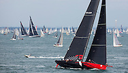 Image licensed to Lloyd Images<br /> &quot;Comanche&quot; the super maxi race yacht shown here at the start of the 2015 Rolex Fastnet Race. Cowes. Isle of Wight<br /> Credit: Lloyd Images