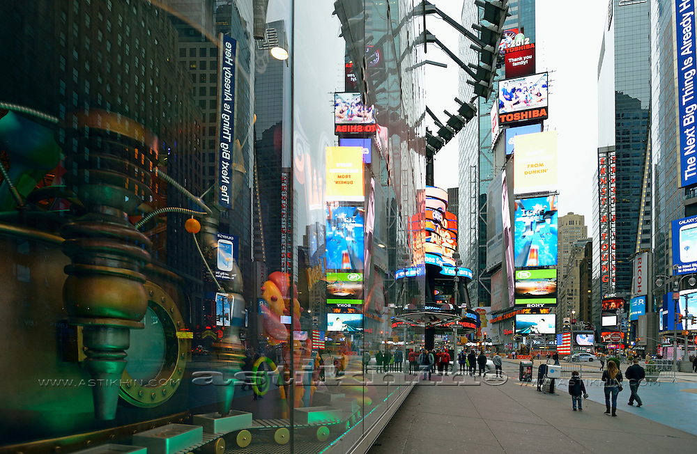 Times Square, Manhattan, New York, United States.