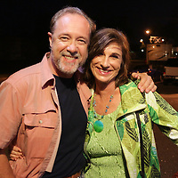 Dr. Ronald Dye, left, and Fern Bugg pose for a photo Friday July 25, 2014 during the Blues Cruise After Party at The Rusty Nail in Wilmington, N.C. (Jason A. Frizzelle)