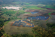 Aerial view of Serpa solar power plant. <br />