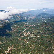 view from a Nature Air flight of the mountains in the  southern part of Costa Rica.
