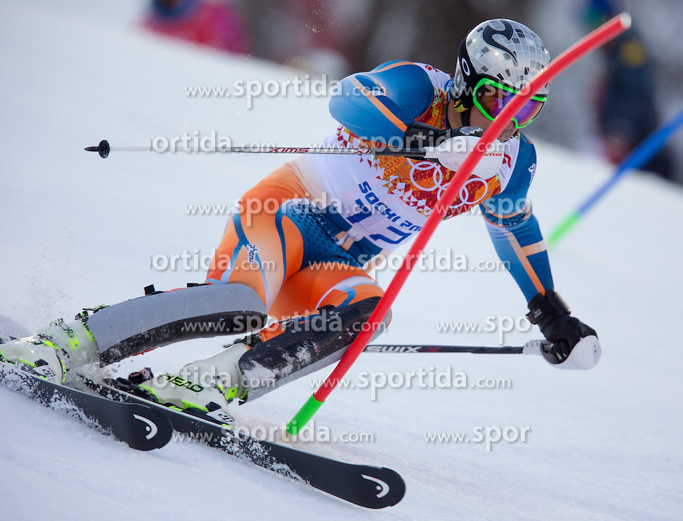 14.02.2014, Rosa Khutor Alpine Center, Krasnaya Polyana, RUS, Sochi 2014, Super- Kombination, Herren, Slalom, im Bild Aksel Lund Svindal (NOR) // Aksel Lund Svindal of Norway in action during the Slalom of the mens Super Combined of the Olympic Winter Games 'Sochi 2014' at the Rosa Khutor Alpine Center in Krasnaya Polyana, Russia on 2014/02/14. EXPA Pictures © 2014, PhotoCredit: EXPA/ Johann Groder