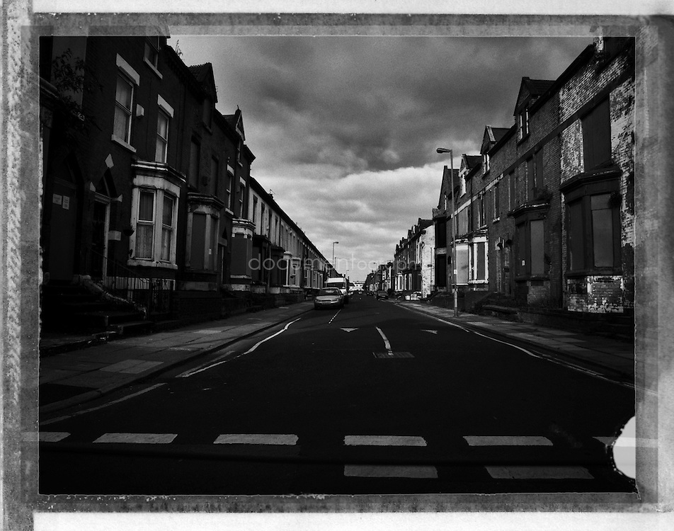 Anfield, near Liverpool FC Stadium, Liverpool, UK.