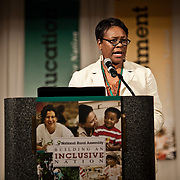Consultant Carol Blackmon speaks to the 2011 Gathering of the National Rural Assembly in St. Paul on June 27, 2011.