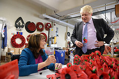 OCT 08 2014 Boris Johnson and Zac Goldsmith Visit Poppy Factory