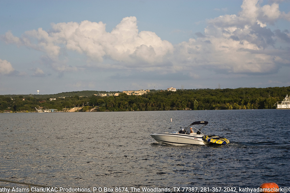 Lake Travis sits to the west of Austin and provides a wide variety of recreational opportunities.  The size of the lake allows power boats but sailing, scuba diving, and swimming are also popular.