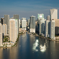 2015 Aerial of The Miami skyline, mouth of the Miami River