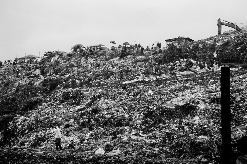 The Payatas dump site in metro Manila is a literally garbage pyramid.