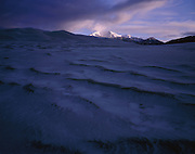 AA00861-04...COLORADO - Fresh snow on the sand dunes in the The Dune Field area of the Great Sand Dunes National Park.