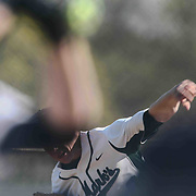 St. Marks Pitcher Andrew Reich (6) release the ball from his hand during a regular season baseball game between the St. Marks Spartans and Caravel Academy at St. Marks Stadium Thursday April 14, 2016 in Wilmington.