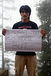 Karsang Yarphel - 29 yrs.Himachal Pradesh.Buddhist.Waiter.'I want to go home but.....'
