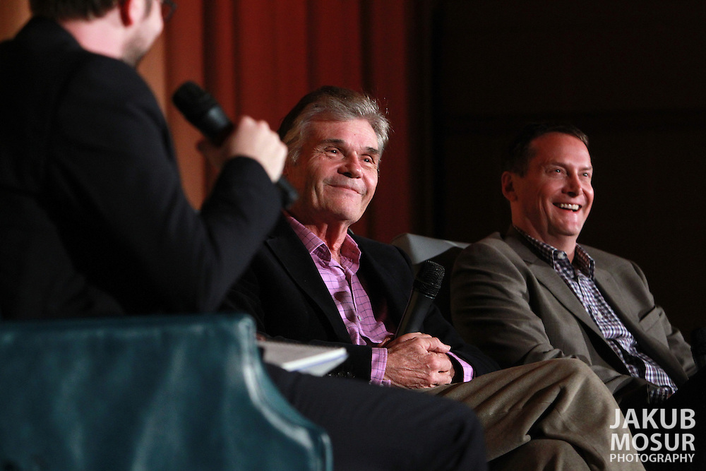 Fred Willard and Michael Hitchcock speak with SF Sketchfest co-founder, Cole Stratton, at a screening of Best in Show at the Castro Theatre on February 4, 2012 as part of SF Sketchfest: The San Francisco Comedy Festival. The 11th annual SF Sketchfest is held at 15 venues in the San Francisco Bay Area from January 19 - February 4, 2012. (© 2012 Photo by Jakub Mosur)