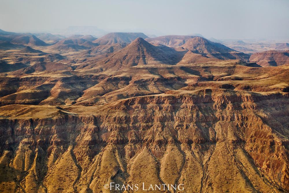 Desert landscape, Damaraland (aerial), Namibia