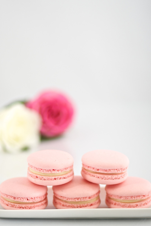 Stock Photography of French Macarons (Macaroons).