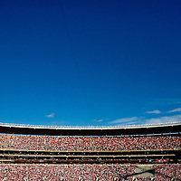 TUSCALOOSA, AL -- October, 24, 2009 -- University of Alabama fans pack the stadium against the University of Tennessee during the Crimson Tide's 12-10 victory over the Volunteers at Bryant-Denny Stadium in Tuscaloosa, Ala., Saturday, Oct. 24, 2009.