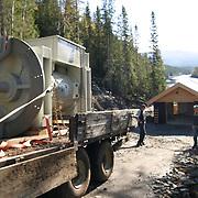 Bygging av småkraftverk i Tydal.