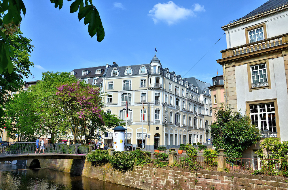 oosbach river and footbridge in baden baden germany encircle photos. Black Bedroom Furniture Sets. Home Design Ideas