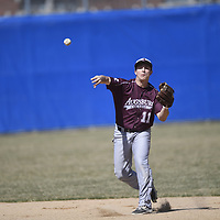 2017 - Macalester College hosts Augsburg and wins first game of doubleheader. Cole Chang throws no-hitter.<br /> <br />  -- Copyright Christopher Mitchell / SportShotPhoto.com
