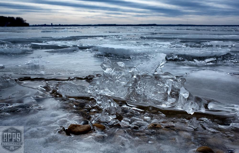 Ice melt on Lake Mendota in Madison, Wisconsin Saturday, March 11, 2017.