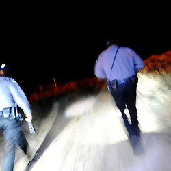 Gallup Community Service Aids patrol the fields and ditches of Gallup looking for intoxicated subjects at night. The effort has dramatically reduced the number deaths related to cold weather exposure.