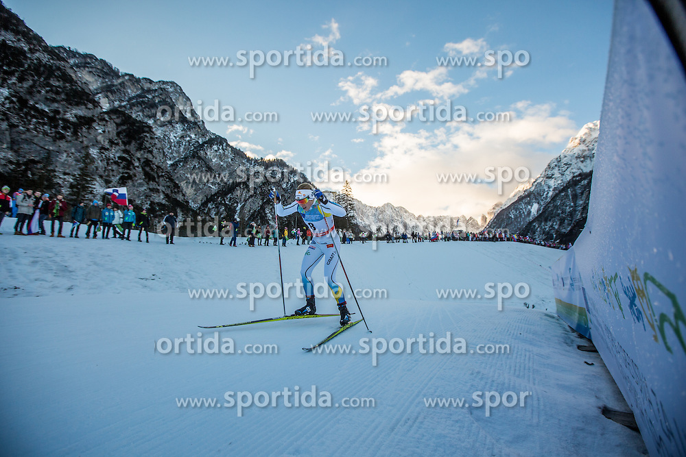 Jonna Sundling of Sweden during Ladies 1.2 km Free Sprint Qualification race at FIS Cross Country World Cup Planica 2016, on January 16, 2016 at Planica, Slovenia. Photo By Grega Valancic / Sportida
