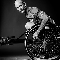 TAMPA, FL -- Dwayne Scheuneman (Navy) of Clearwater, Fla., poses for a portrait during the National Veterans Wheelchair Games presented by the U.S. Department of Veterans Affairs and Paralyzed Veterans of America in Tampa, Fla., this week.  (PHOTO / Chip Litherland for ESPN.com)